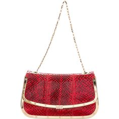 Pre-owned Dolce & Gabbana Snakeskin Frame Bag ($295) ❤ liked on Polyvore featuring bags, handbags, shoulder bags, red, white shoulder bag, man shoulder bag, man bag, purse shoulder bag and white hand bags