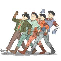 The Capsules - Keisuke Kai, Shima Tetsuo, Shoutarou Kaneda and Yamagata