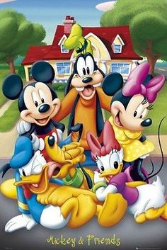 MICKEY MOUSE Poster - DISNEY Characters Full Size Print ~ Goofy Minnie Pluto