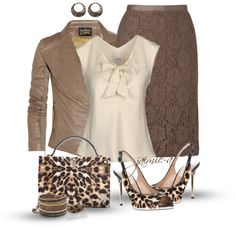 """Touches Of Leopard"" by jaimie-a ❤ liked on Polyvore"