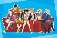 One Piece gender bender by megamono - Nami and Nico are so fiiiiine looking. Oh my gosh this is so amazing.