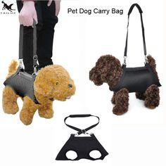 [TAILUP] Pet Carrier Bag Dogs Carrying Bag forSmall Dogs Puppy Pets Harness Support Vest Carrying for Car and Hand PP008black