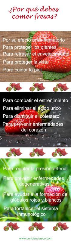 ¿Por qué debes comer fresas? #infografía