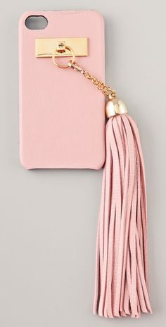 Pink + Gold Jagger Edge Hang Fire iPhone 4 Cover