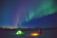 Northern Lights + Camping = awesome bucket list item