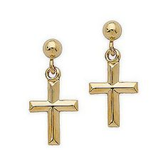 Dangle cross earrings
