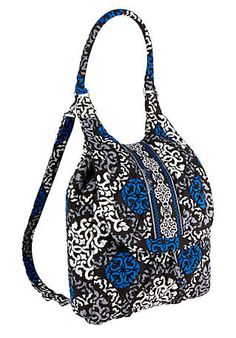 Back Pack tote in Canterberry Cobalt this purse can be worn as a backpack OR a shoulder bag!!