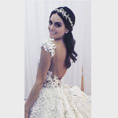 Picture of #XimenaNavarrete on her #wedding #dress ️ by #benitosantos #ximenayjc #BodaXimenaYJC
