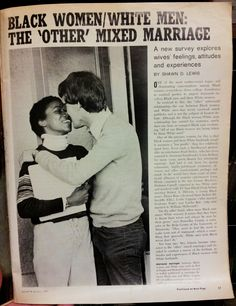 """This should be called """"Black Women/White Men: The """"Original"""" Mixed Marriage. After all, Moses married a black woman and the Book of Solomon are love songs written to a black woman."""