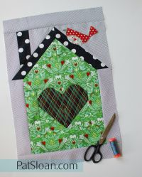 Pat Sloan be my neighbor -Free sew along of house quilt blocks #quilt #diy