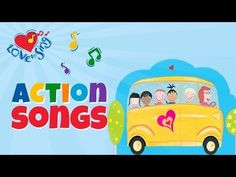 Children action Songs and Rhymes Bus Songs For Kids, Kids Songs With Actions, Music For Toddlers, Toddler Music, Nursery Songs, Kids Nursery Rhymes, Rhymes For Kids, Kindergarten Activities, Activities For Kids
