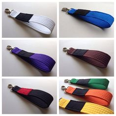 Jiu Jitsu belt keychains