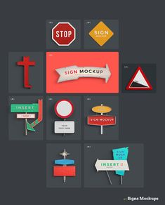 Signs Mockups • Check all items included • Lstore.graphics