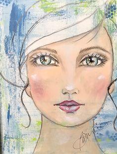 Art Challenge, Art Journal Inspiration, Whimsical Art, Drawing People, Face Art, Portrait Art, Medium Art, Collage Art, Art Girl