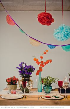 Mexican Fiesta Inspired Table Decor -- Celebrate any occasion with Las Palmas #fiesta #decorations #party laspalmassauces.com