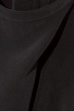 Equipment - Brynn Washed-silk Top - Black - x small