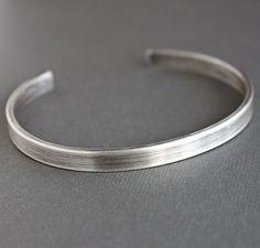 Armband de argent de mens, Herrenarmband mit Manschette, argent armband, Sterling Source by andredenowebb