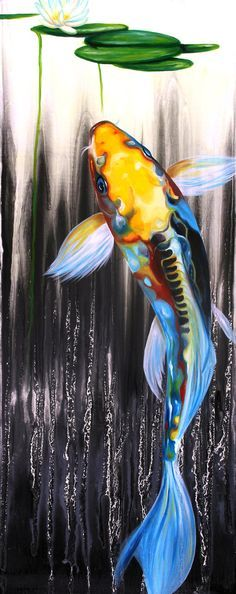 Signed 12x4 Koi fish Kodak Metallic photo from by OceanClark, $28.00