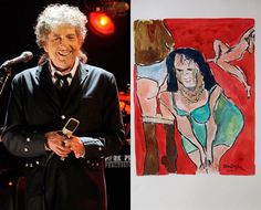 Paintings by Bob Dylan | Next Bob Dylan and his Drawn Blank Series art exhibition at the ...