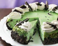 Chocolate Grasshopper Cheesecake.  oh my gosh.