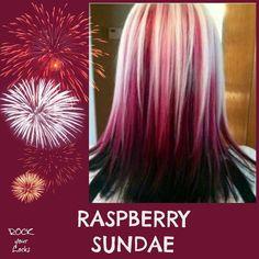 Raspberry Sundae Hair Colour Inspiration ♡ Rock your Locks -I could never pull this off but it's super cute! Love Hair, Great Hair, Gorgeous Hair, Awesome Hair, Hair Color And Cut, Cool Hair Color, Hair Colors, Ombré Hair, New Hair