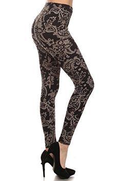 5379a3e3dc57f Laid Back Lifestyle Paisley Print Full Leggings In Black- Sizes