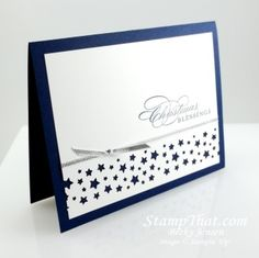 Stampin Up Confetti Star Punch - love the simplicity
