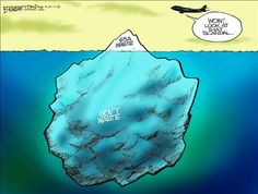 """There should be a large ship nearby with """"SS America"""" written on the bow headed toward that berg with screaming taxpayers on board."""