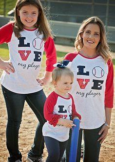 The Hair Bow Company | LOVE My Player Baseball Raglan Shirt for Women