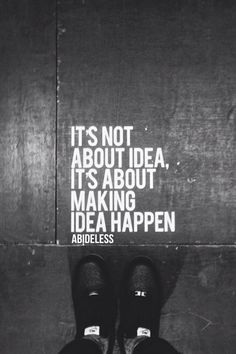 Quote of the week from ABIDELESS brand. Always remember it's not about ideas, it'ß about making idea happen! So fight for your dreams and work hard to succeed! #quote #Wednesday #quoteoftday #quoteofweek #fashion #lifestyle#brand #streetwear #streetstyle #clothes #black #white