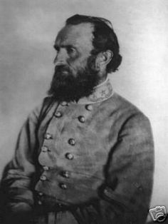 Civil War Confederate General Stonewall Jackson's Photo