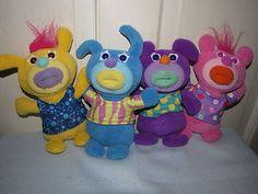 Fisher Price Singamajigs Sing A Ma Jigs Plush Musical Dolls Yellow, Pink, Blue