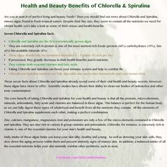 Chlorella and Spirulina