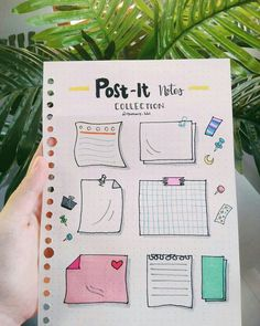 Post It Note doodles for your Bullet Journal Bullet Journal School, Bullet Journal Inspo, Bullet Journal Headers, Bullet Journal Banner, Bullet Journal Writing, Bullet Journal Aesthetic, Bullet Journal Ideas Pages, Bullet Journal Vacation, Como Fazer Post It