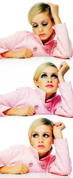 Twiggy--was so fascinated by the eyes, the make-up...that figure! (Or lack thereof). The MODERN clothes!