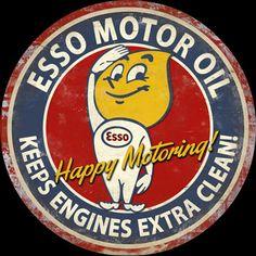 14 Inch Vintage Signs - Vintage Gas - Oil Signs - Garage Art LLC