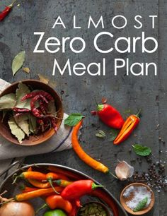 Almost Zero Carb Meal Plan eBook