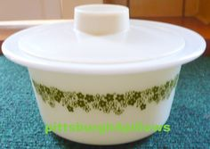 Pyrex - Crazy Daisy/Spring Blossom Butter Dish/Tub W/Lid - by pittsburgh4pillows on Etsy