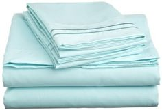 Amazon.com: Cathay Home Luxury Soft Microfiber Sheet Set with Embroidered Pillow Cases, Full, Aqua: Home & Kitchen