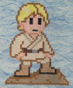 Luke Skywalker Perler Bead Sprite by Nicolel12 on deviantart