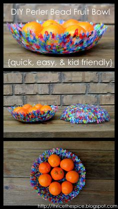 Modern Art Station Activity - Perler bead bowls (use standard glass bowl and bake)