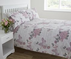 Life From Coloroll Musical Floral Duvet Set Pink | Ponden Homes