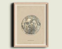 Astronomie afdrukken Poster / tekening van de door TheCuratorsPrints