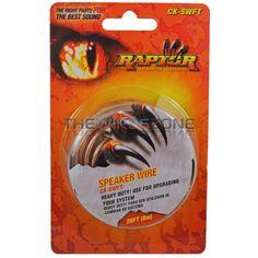 Raptor CK-SWFT Transparent 18 Gauge 18/2 20ft Speaker Wire for Car Audio Systems #Raptor