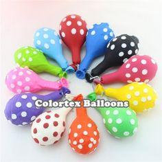 Mylar Balloons, Latex Balloons, Polka Dot Balloons, Printed Balloons, Polka Dots, Wholesale Balloons, Party Needs, Party Shop
