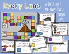 How cute it this?! It's a rocks and minerals review game based off of the game Candy Land. My students would love this! Structure Of The Earth, Classic Board Games, Review Games, Candy Land, Rocks And Minerals, Games To Play, Chemistry, Workshop, Students