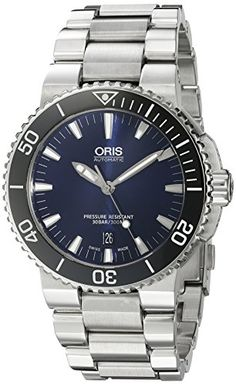 Oris Men's 'Aquis' Swiss Automatic Stainless Steel Diving Watch, Color:Silver-Toned (Model: 73376534135MB) #Watch