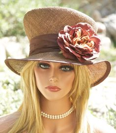 Kentucky Derby Hat Garden Party Tea Party Hat Cocoa by AwardDesign, $92.00