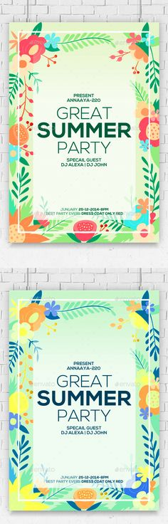 Summer Party Flyer Template PSD. Download here: http://graphicriver.net/item/-summer-party-flyer-/16771238?ref=ksioks