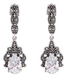 Cubic Zirconia Marcasite Earrings